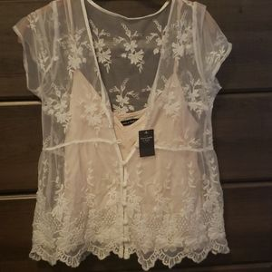 Cami with lace overlay